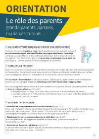 Le rôle des parents